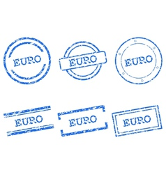 Euro stamps vector image vector image