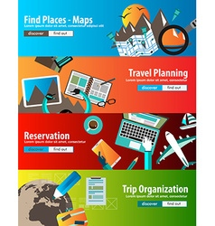 Flat Style Design Concepts for business strategy vector image