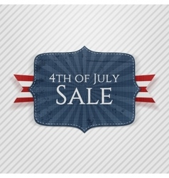 Fourth of July Sale realistic Emblem vector image