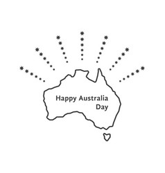 Happy australia day with fireworks of stars vector