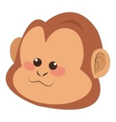 serious monkey cartoon icon vector image