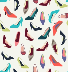 shoes pattern fashion shoes fashion background vector image vector image