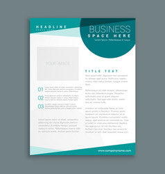 simple blue brochure design template in size a4 vector image vector image