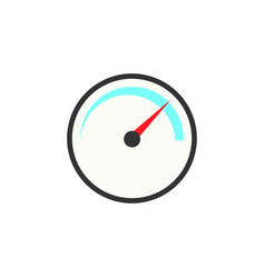 Speedometer solid icon navigation and tachometer vector