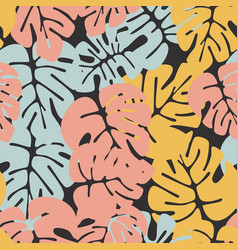 Summer seamless tropical pattern vector
