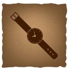 Watch sign vintage effect vector