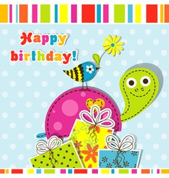 Scrapbook birthday greeting card vector image