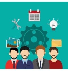 Teamwork and business related icons image vector