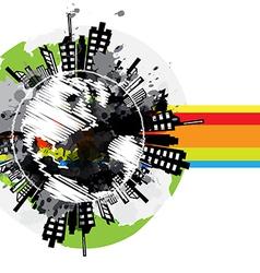drawing global urban banner design vector image