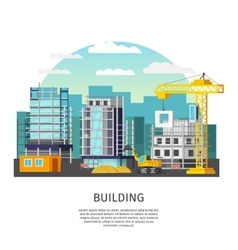 Building work orthogonal design vector