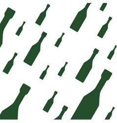 Champagne bottles background vector