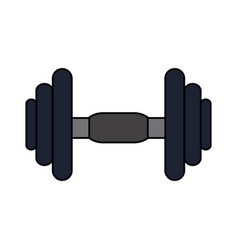 Color image dumbbell for training in gym vector