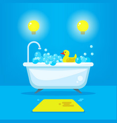 Relax in bathroom concept background vector