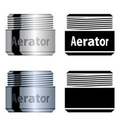 Water saving aerator vector