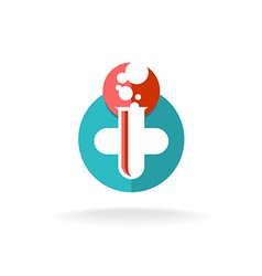 Medical research logo vector