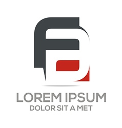 Lettermark f combination a company logo vector