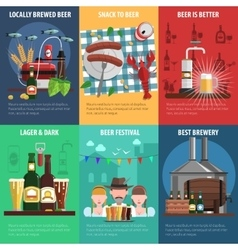Beer poster set vector