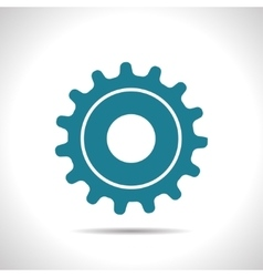 Cogwheel icon epsflat color0 vector