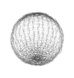 Sphere from lines wireframe mesh polygonal element vector