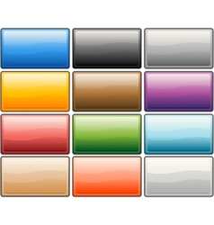 Glossy media internet buttons vector
