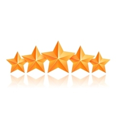 Five 3d gold stars premium the best reward vector