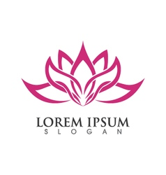 Lotus flowers design logo template vector