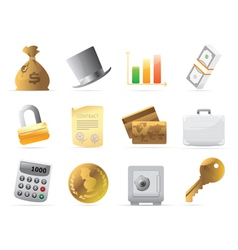 Icons for finance money and security vector