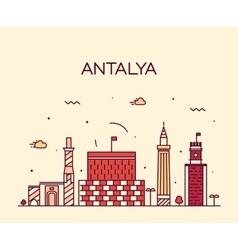 Antalya skyline linear style vector image vector image