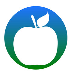 Apple sign white icon in vector
