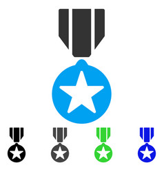 Army star award flat icon vector