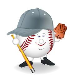 baseball cartoon character vector image vector image