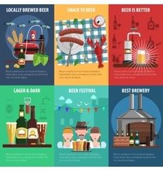 Beer poster set vector