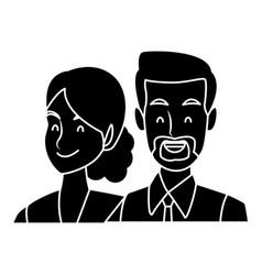 Business couple teamwork vector