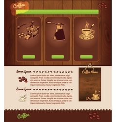 cafe template vector image vector image