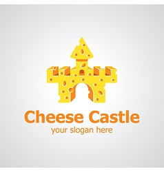 Cheese castle vector