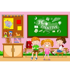 Children learning in the classroom vector image vector image