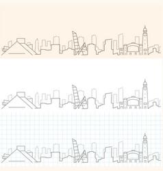 Cleveland hand drawn skyline vector