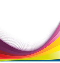 Colorful abstract bright rainbow wave lines vector image vector image