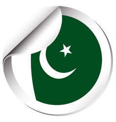 Flag icon design for pakistan vector