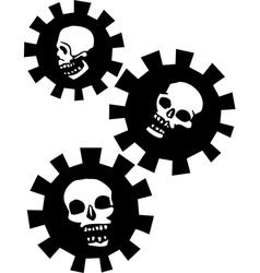 Gear skulls vector
