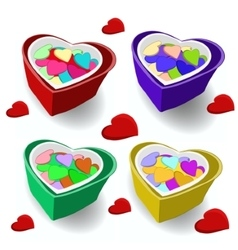 Gift on Valentines Day A box of sweets vector image