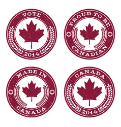 Grunge Canada Maple Leaf Emblems vector image vector image