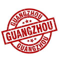 Guangzhou red round grunge stamp vector