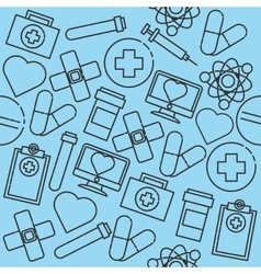 Hand drawn medical pattern vector