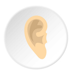Human ear icon circle vector