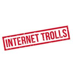 Internet trolls rubber stamp vector