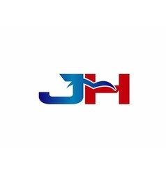 J and h logo vector
