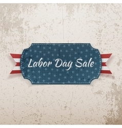 Labor day sale festive paper tag vector