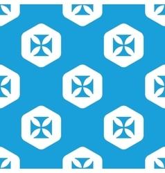 Maltese cross hexagon pattern vector