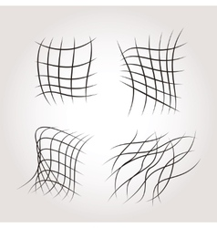 Net grids mysterious line structures vector